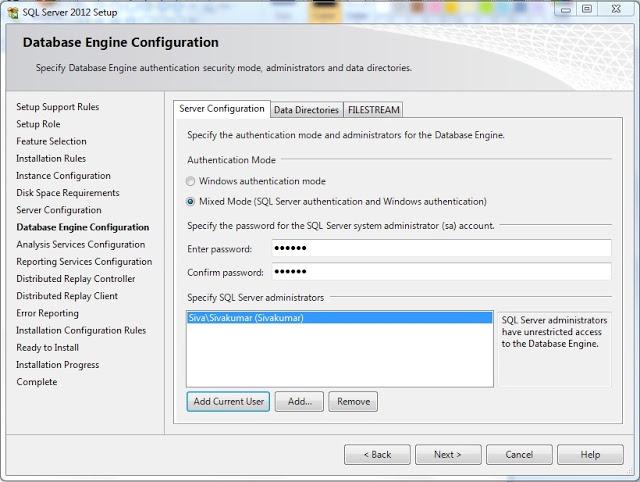 Specify SQL Administrator