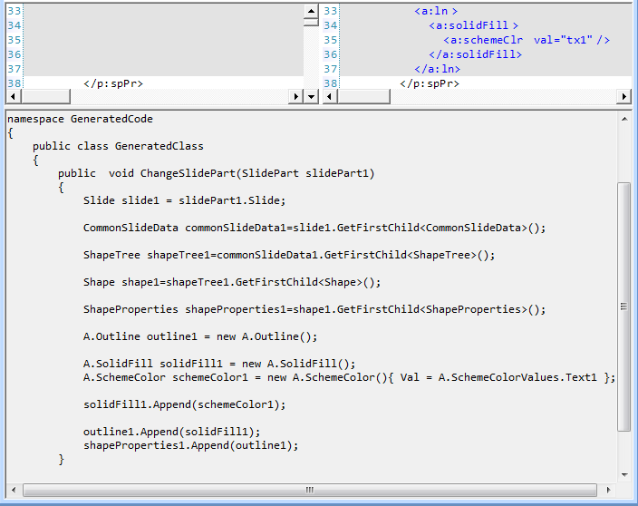 Differential code, from the SDK Tool