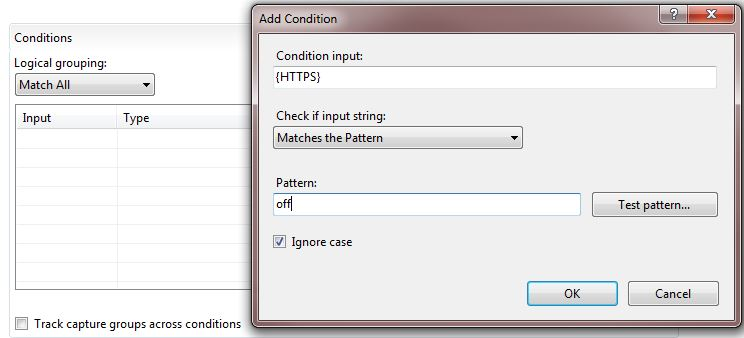 In the 'Conditions' section, add a new Condition with the following settings.