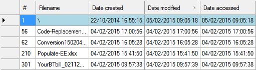 Filecats Explore - Date Modified of Folder