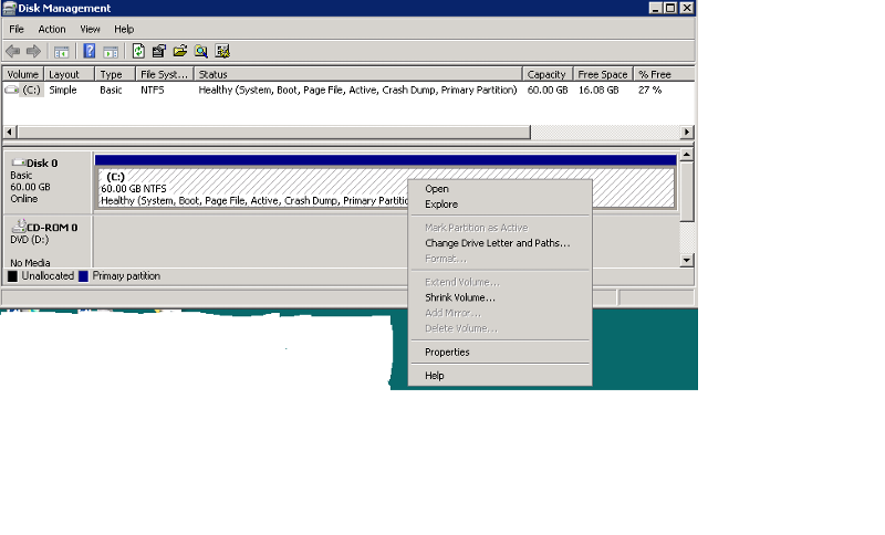DiskMgmt in Virtual Machine