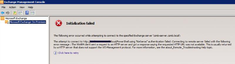 initialization failed