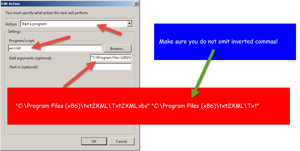 Convert text file to xml using vbscript