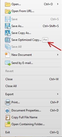 PDF-XChange Pro feature