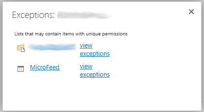 "I checked the ""Show these items."" link. The blurred location is a folder in a document library. But that shouldn't have any bearing in the case."