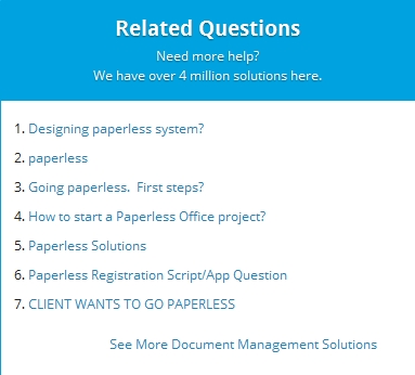 Paperless questions at EE
