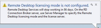 pop up error message licensing