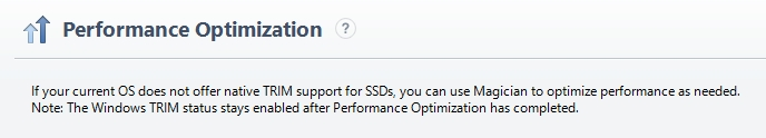 SM optimize performance without TRIM