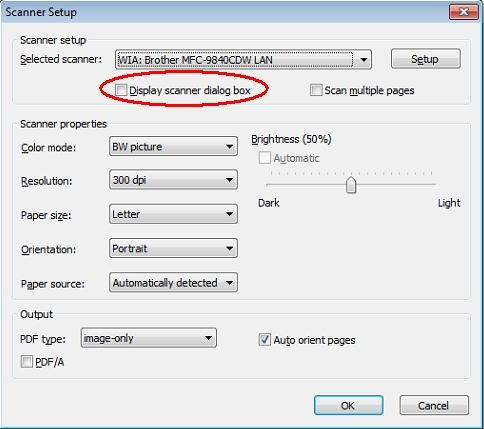 PDF Converter Scanner Setup WIA