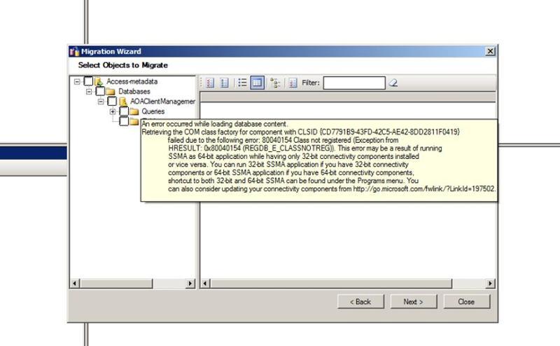 Conversion error for SSMA