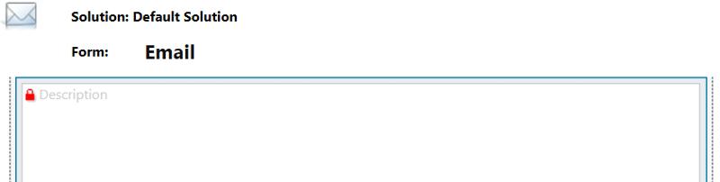 Email Form Description (body) Field Locked