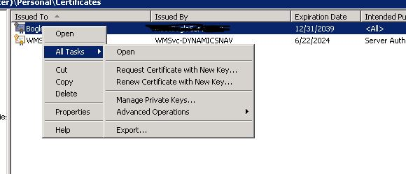 Manage Private Keys exists here!
