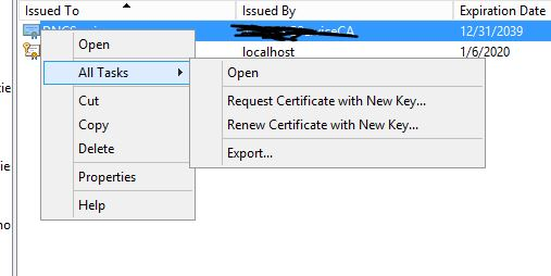 No access to Manage Private Keys.