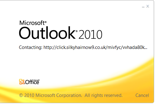 Outlook Startup Screen