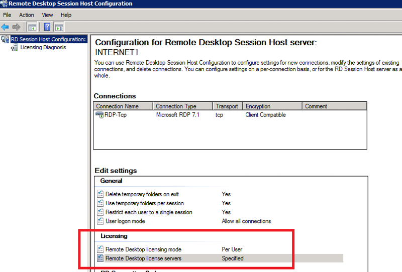 Another TS with License Server Specified