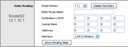 Router02 - Advanced Rout Settings