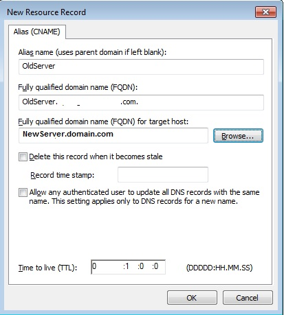 Add DNS alias record