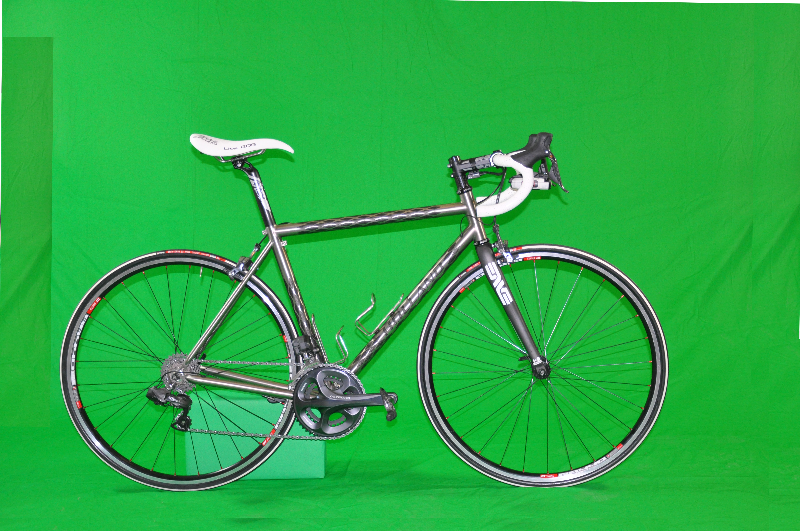 Chromakey photo bicycle