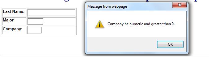 JavaScript error