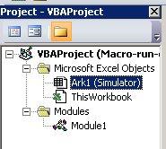 XL VBA Project Window