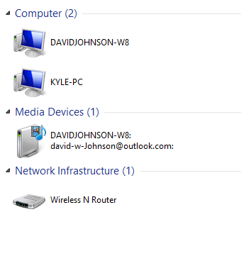 Media devices showing