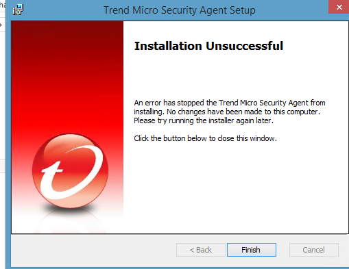 Cannot install Trend Micro via grouo policy