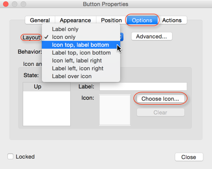 Button Properties - Icon