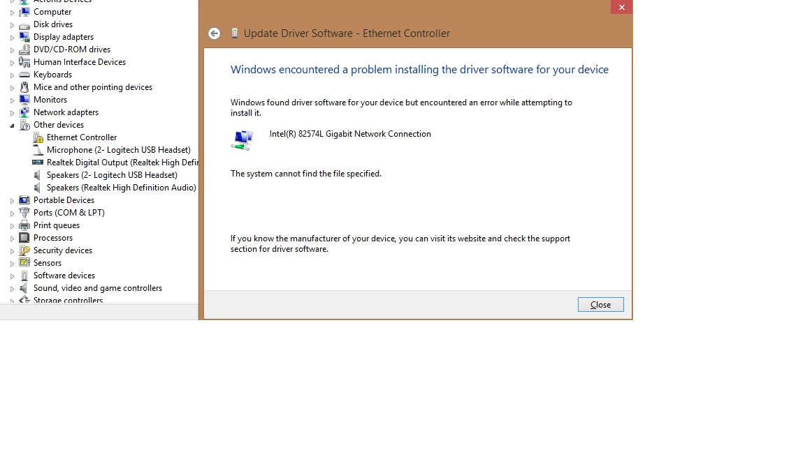 MTP USB Device driver not installable