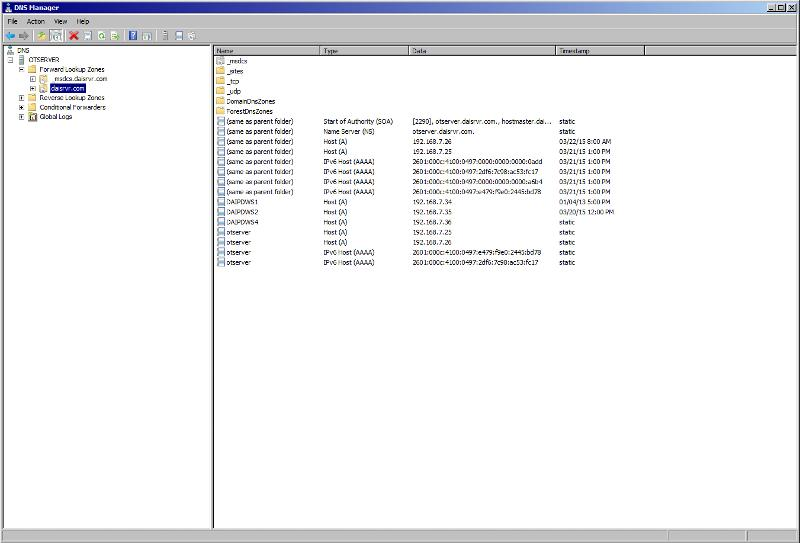 """DNS setup under """"daisrvr.com"""""""