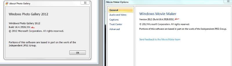 windows live version