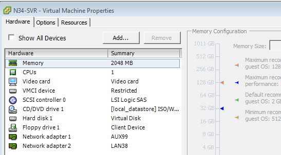 VMware ESXi Interface on VM not Appearing