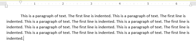 First Line Indent