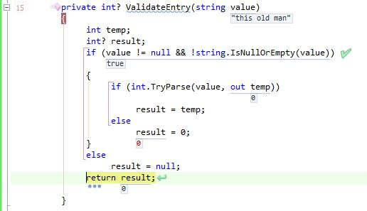 Stepping through the code produces a value of 0.