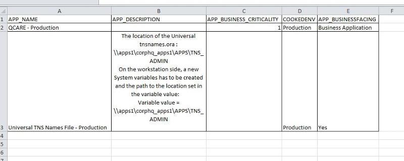 Sample CSV file