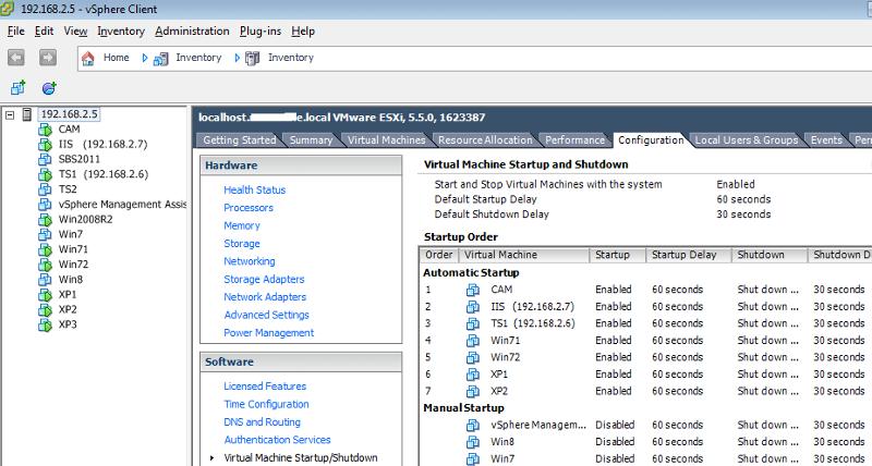 vMA installed in VSphere Client