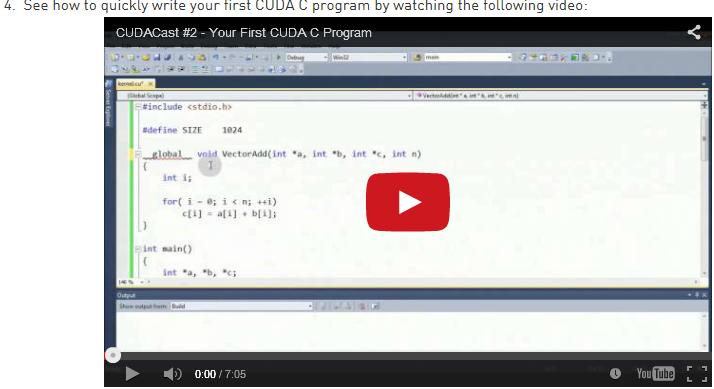 First C Program with CUDA