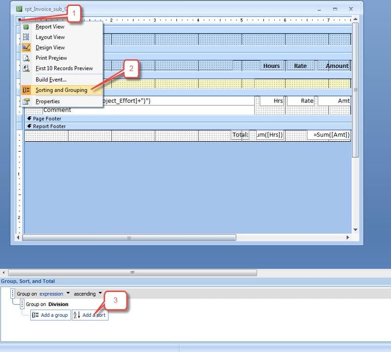 steps to enable report sorting