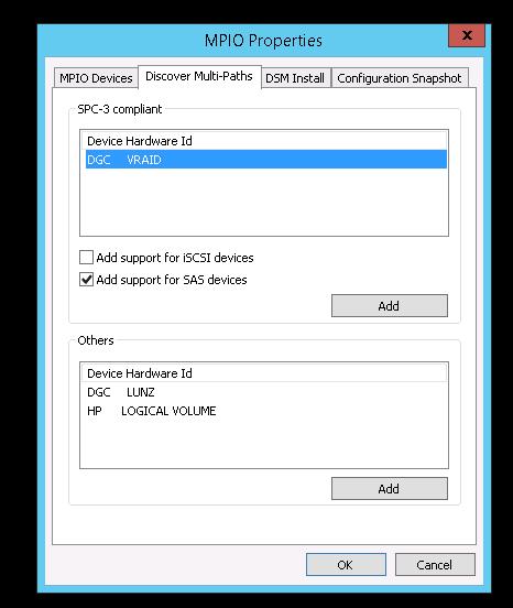 Windows Server 2012 and Multipath I/O to Storage Area Network