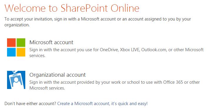share folder signin