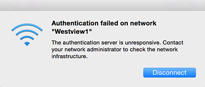 Authentication server not responding.