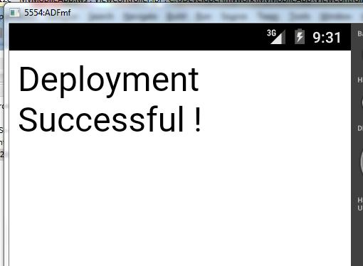 Successful app on emulator