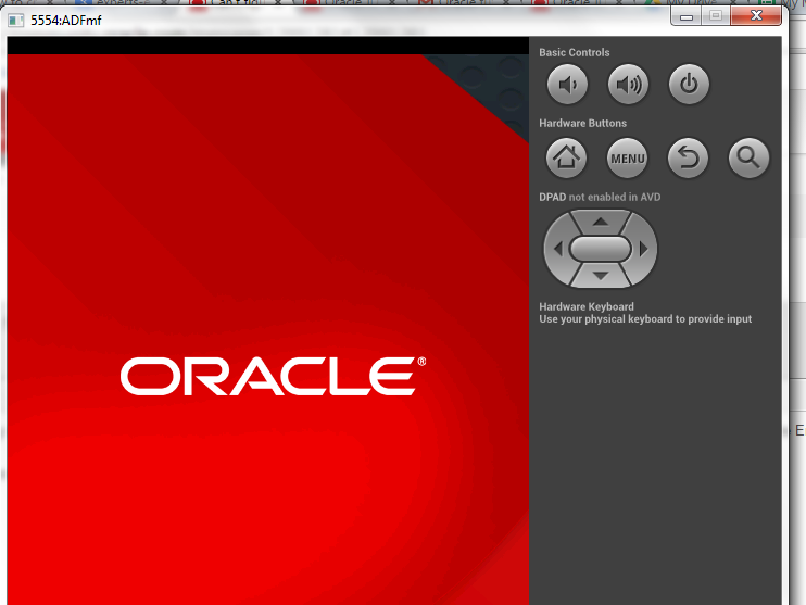 employment app but Oracle logo