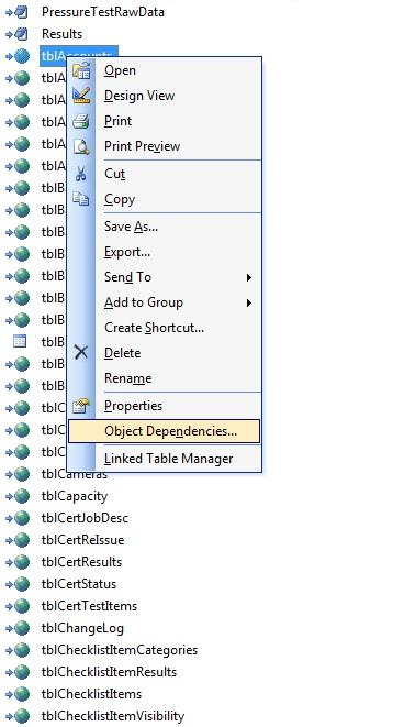 Object dependency