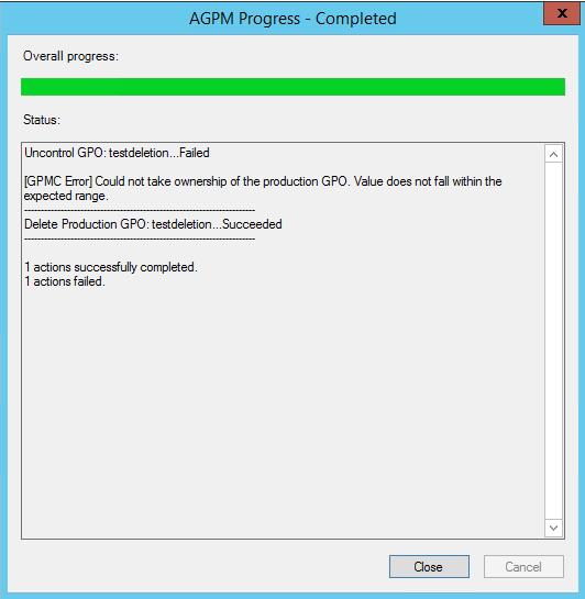 AGPM 4 0 SP2 Errors