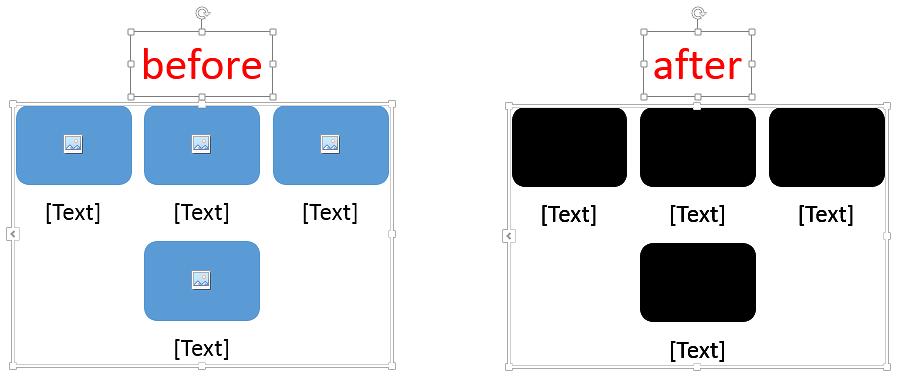 SmartArt shape fill with VBA in PowerPoint, Excel etc
