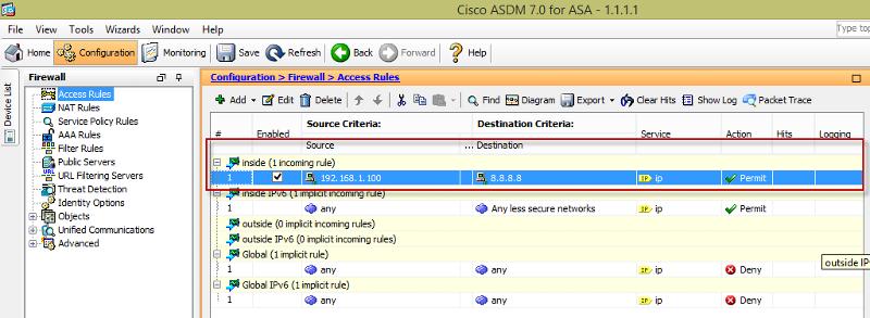 ASDM - default allow is gone