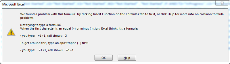 THIS IS WHAT EXCEL SAYS