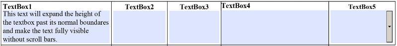 Expanding TextBox Example