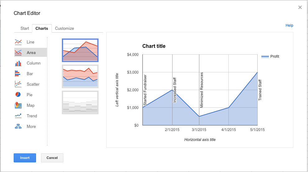 How to Customize Graphs using Google Sheets