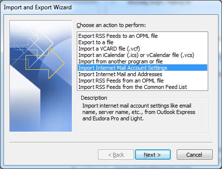 import export wizard